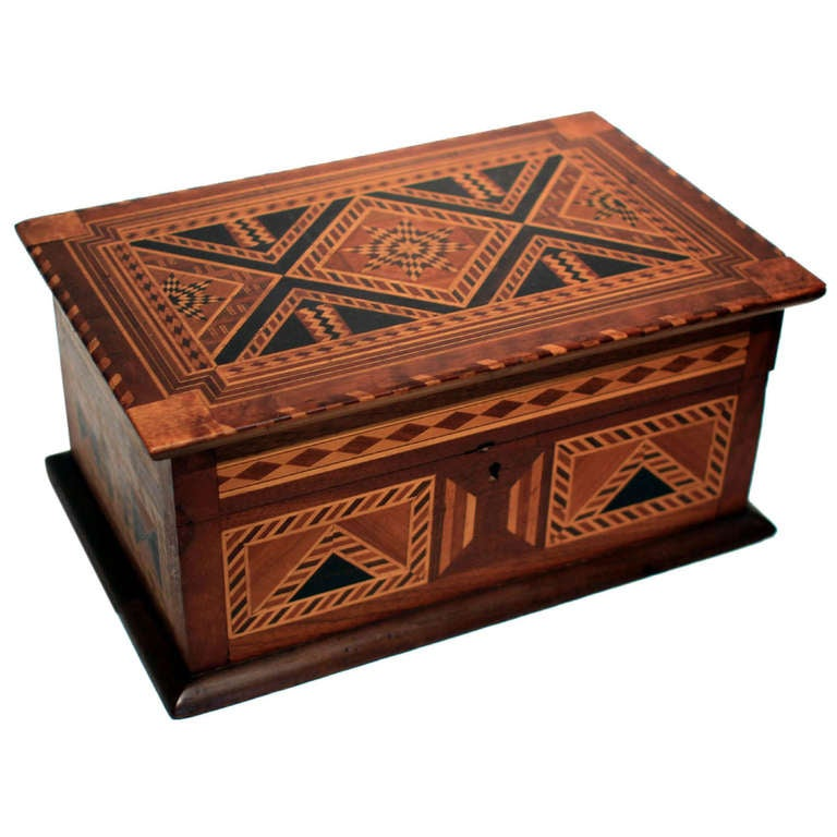 Fine Marquetry Jewelry Box At 1stdibs