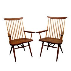Pair of Arm Chairs by George Nakashima