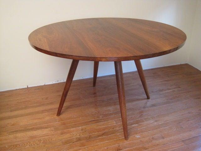 Black Walnut Round Table By George Nakashima 2