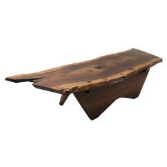 A Black Walnut Coffee Table by George Nakashima
