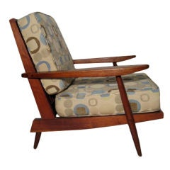 Walnut Spindle Cushion Chair by George Nakashima