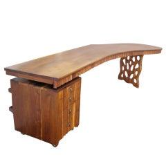 Walnut desk by Gino Russo
