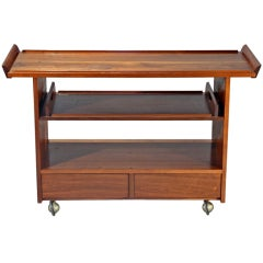 A Walnut Tea Cart / Bar by George Nakashima