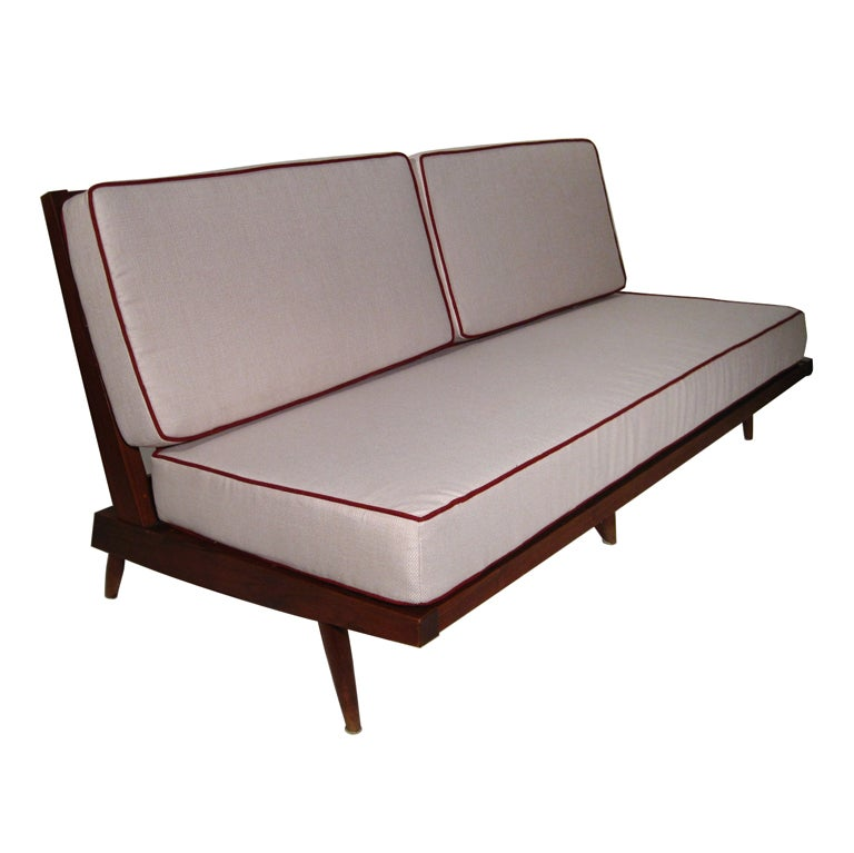 A Spindle Cushion Sofa by George Nakashima