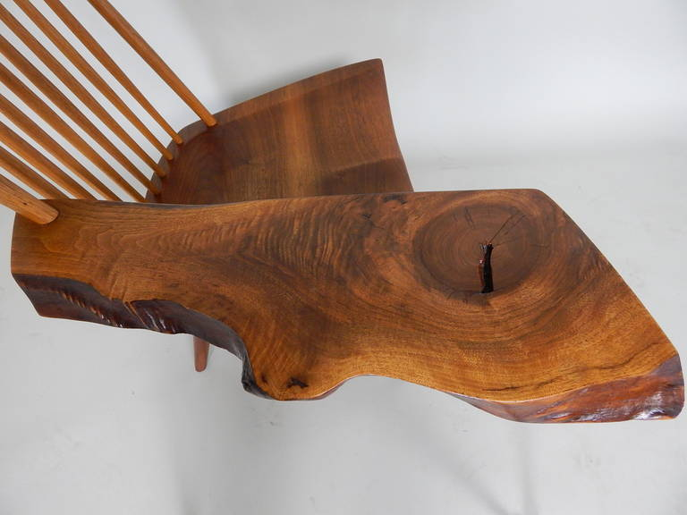 Walnut Lounge Chair with Saddle Seat by George Nakashima 7