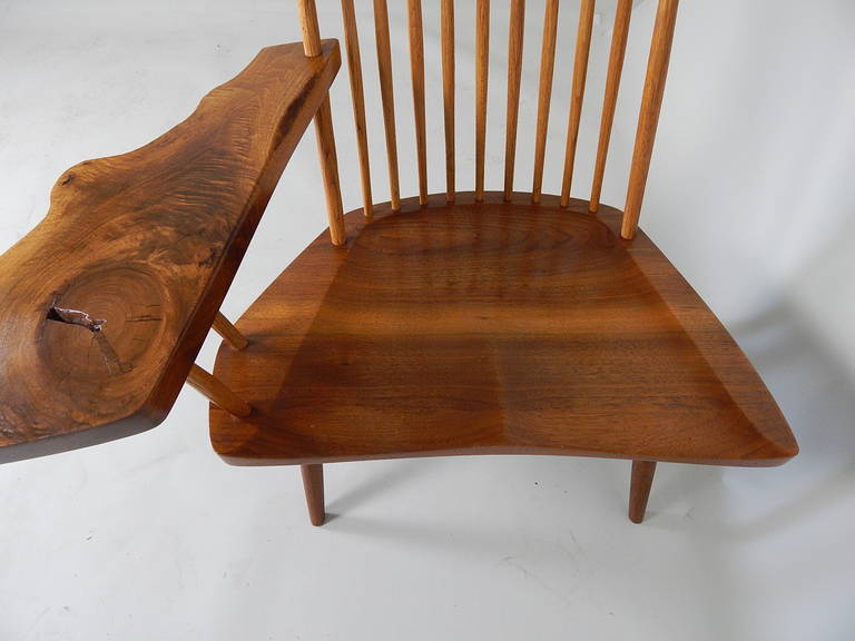 Walnut Lounge Chair with Saddle Seat by George Nakashima 8