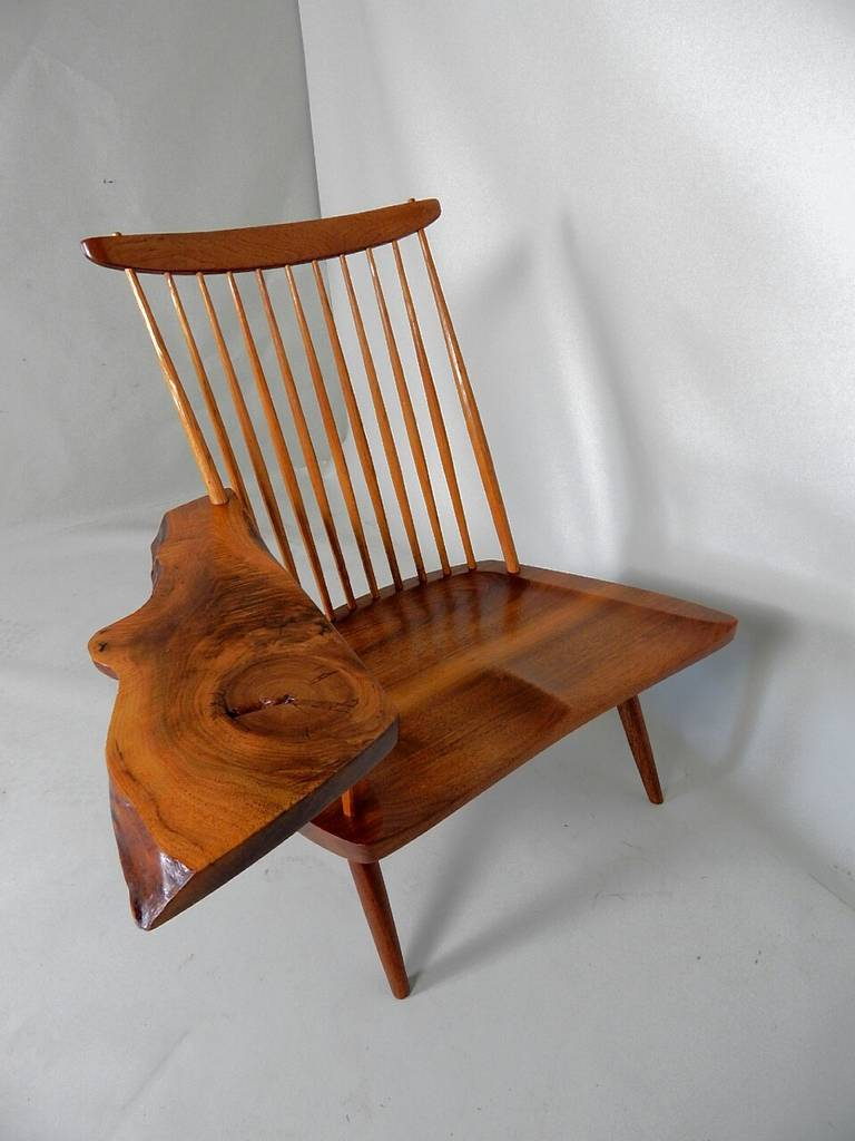 Walnut Lounge Chair With Saddle Seat By George Nakashima