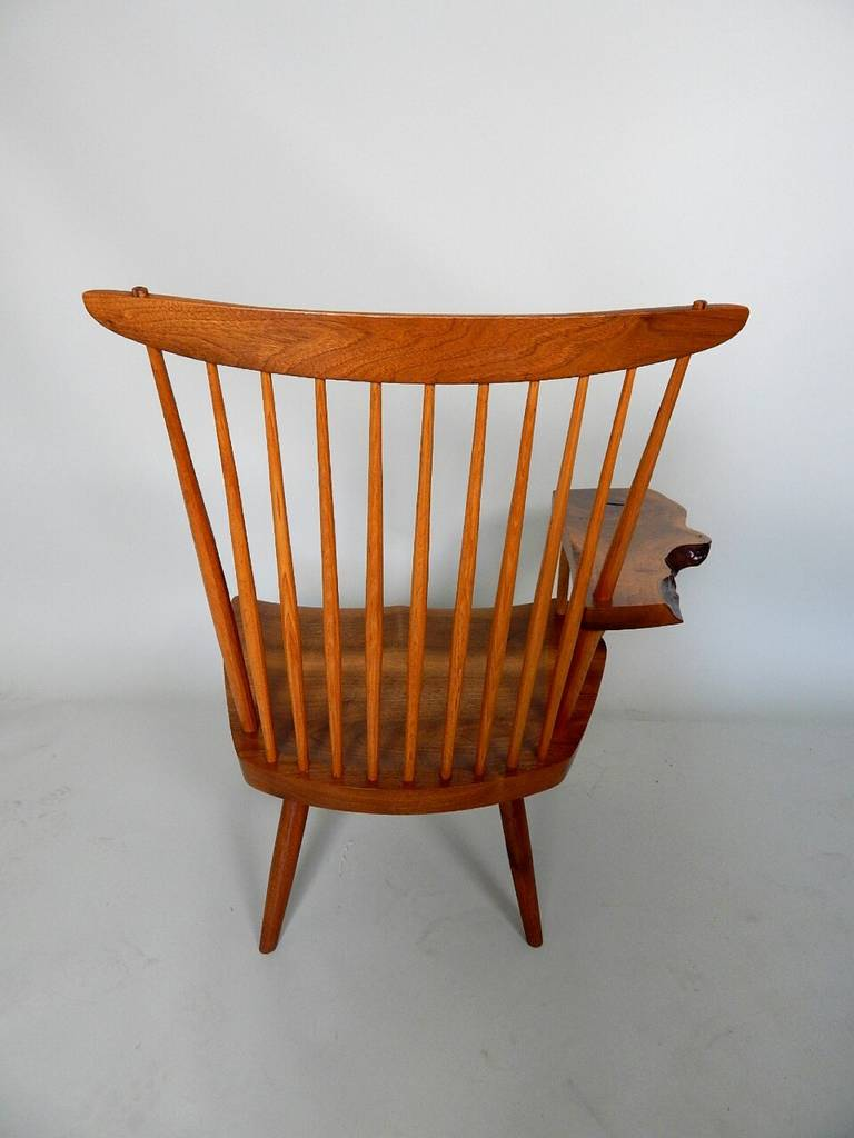 Walnut Lounge Chair with Saddle Seat by George Nakashima 5