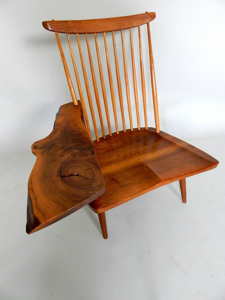 Walnut Lounge Chair with Saddle Seat by George Nakashima 4