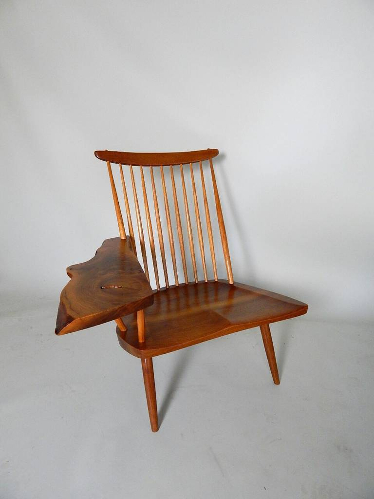 Walnut Lounge Chair with Saddle Seat by George Nakashima 6