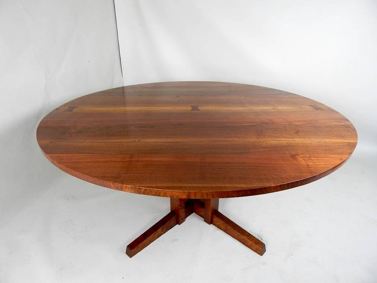 American Walnut Cluster Base Table by George Nakashima For Sale