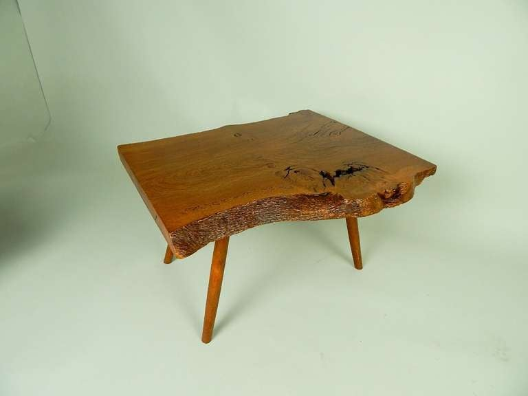 Mid-Century Modern Walnut Coffee Table by George Nakashima For Sale