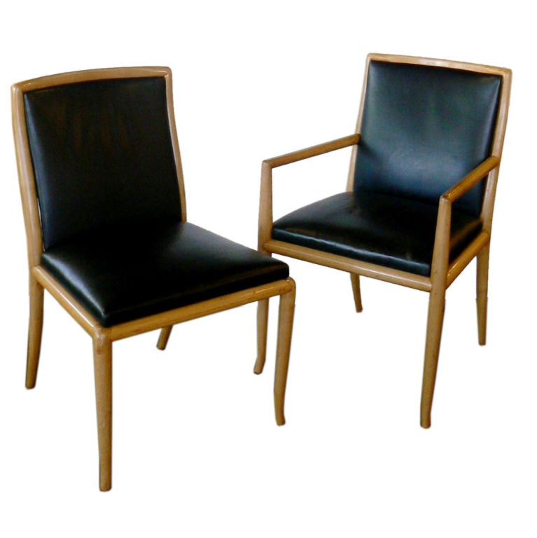 Six Leather Dining Chairs by TH Robsjon Gibbings at 1stdibs : XXX858812780989791 from www.1stdibs.com size 767 x 768 jpeg 40kB