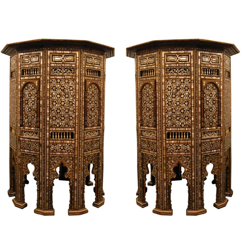 Moroccan Taboret Pair At 1stdibs