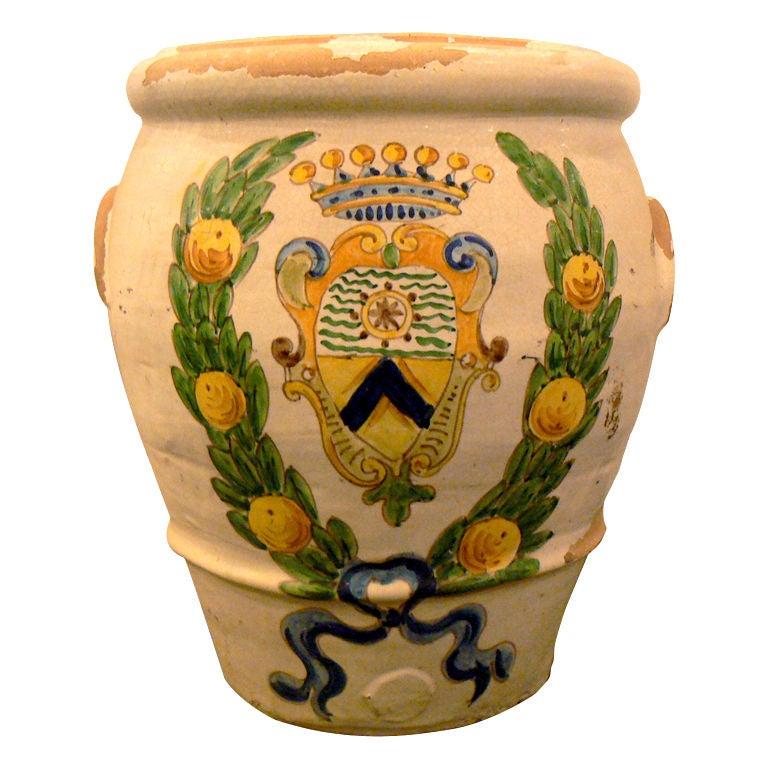 Italian Pottery Urn At 1stdibs