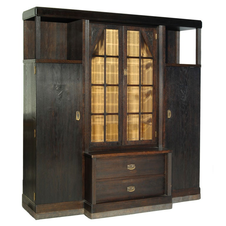 arts and crafts bookcase circa 1905 austria hungary at. Black Bedroom Furniture Sets. Home Design Ideas