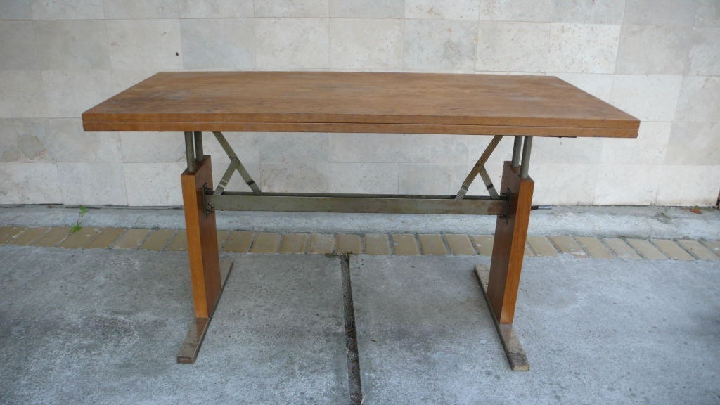 Machine Age Expandable Coffee and Dining Table 1950s at  : 859013179826142 from www.1stdibs.com size 1024 x 576 jpeg 81kB