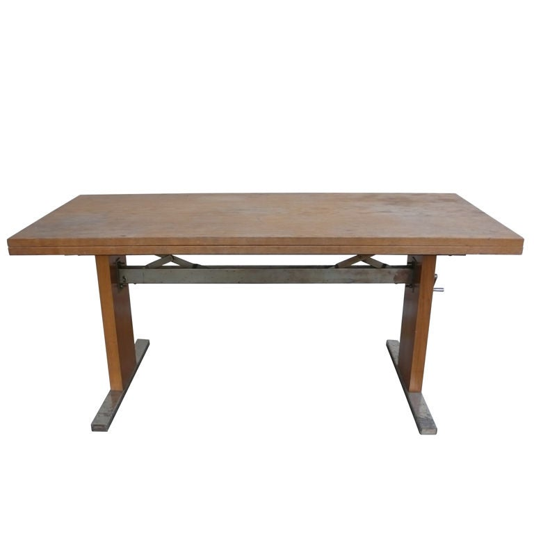 Machine Age Expandable Coffee And Dining Table 1950s At 1stdibs
