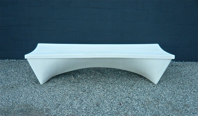 Fiberglass Garden Bench : Architectural fiberglass bench at stdibs