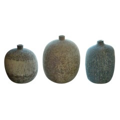 Collection of 3 Claude Conover Ceramic Vessels.