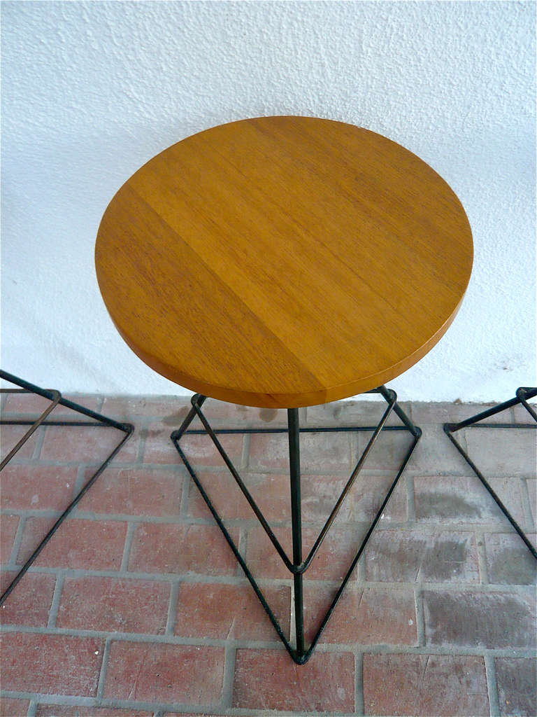 Luther Conover Counter Height Barstools 3 At 1stdibs