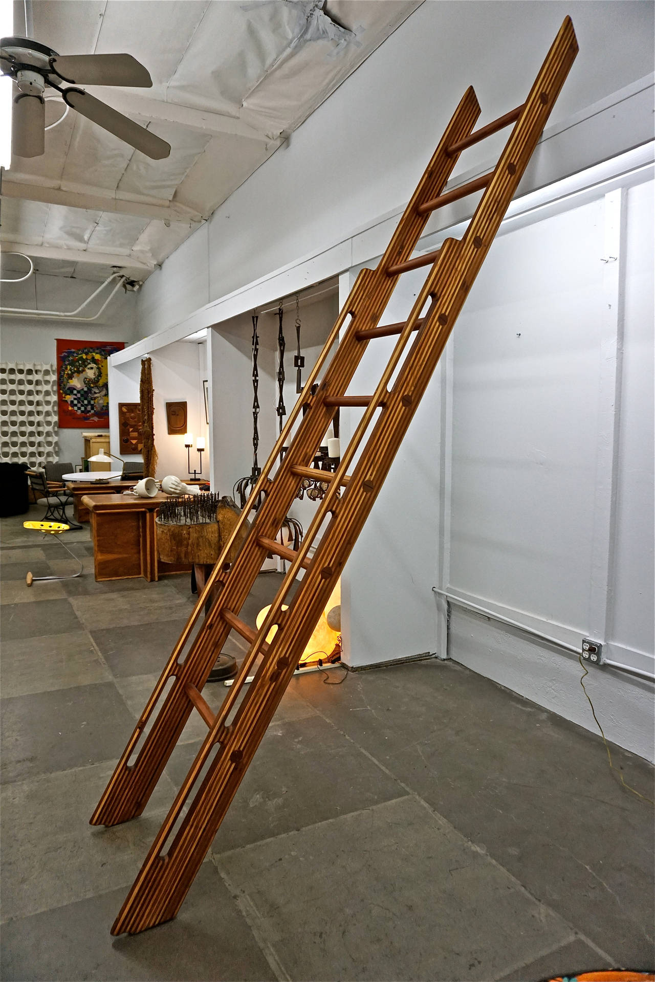 Beautifully Handcrafted Wooden Ladder For Sale at 1stdibs
