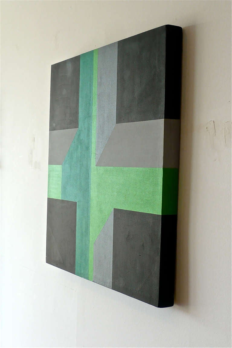 Modern Hard Edge Painting For Sale