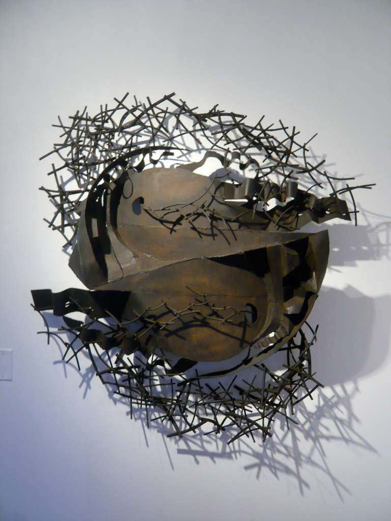 Outstanding Abstract Metal Sculpture at 1stdibs