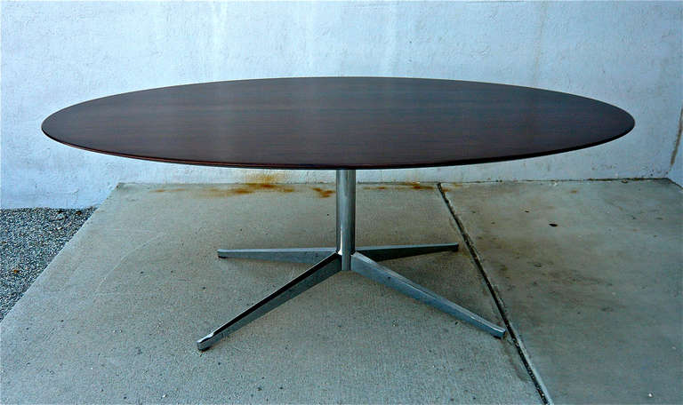 Knoll Rosewood Oval Dining or Conference Table at 1stdibs