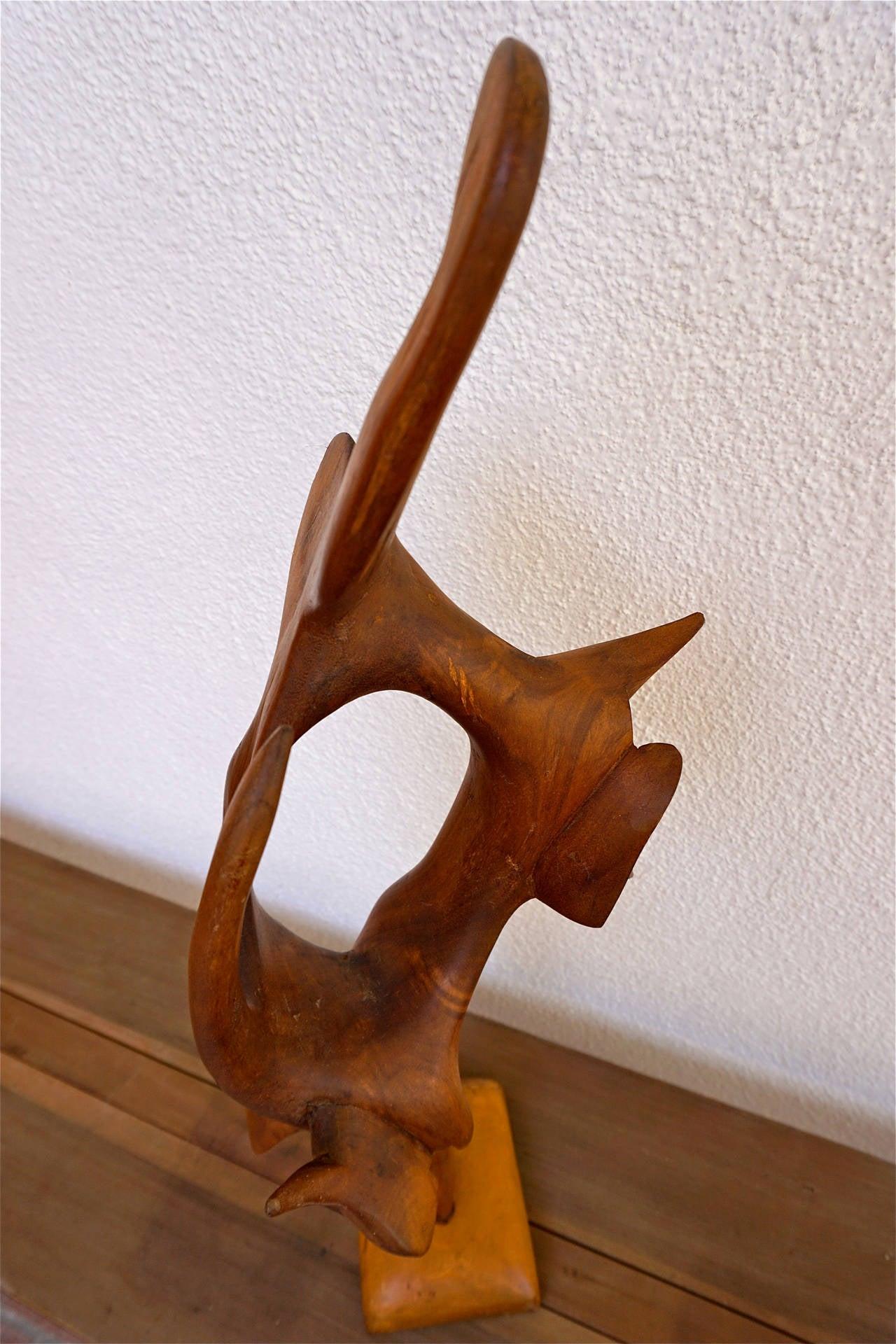 Abstract Wood Sculpture At 1stdibs