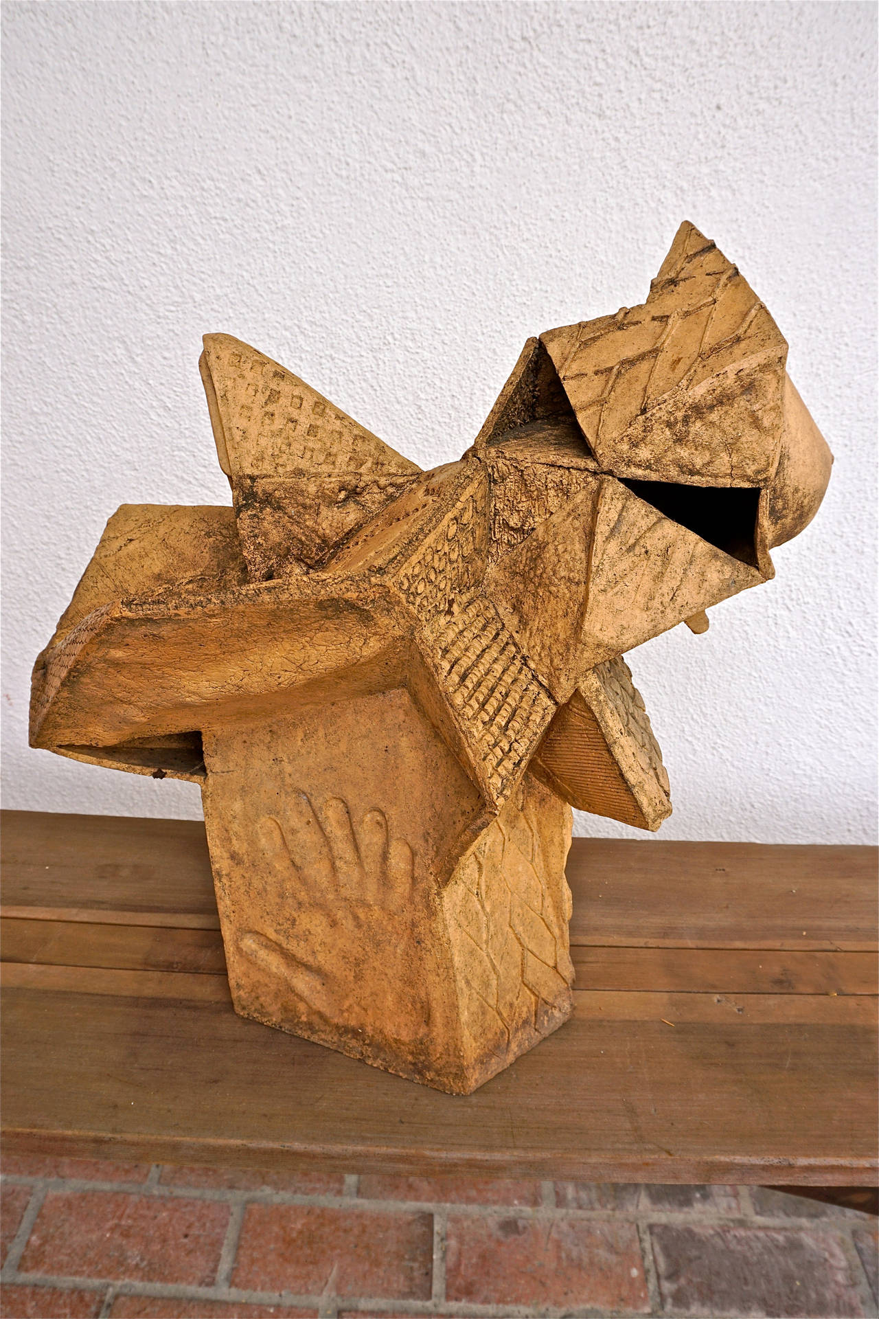 Abstract Stoneware Sculpture 9