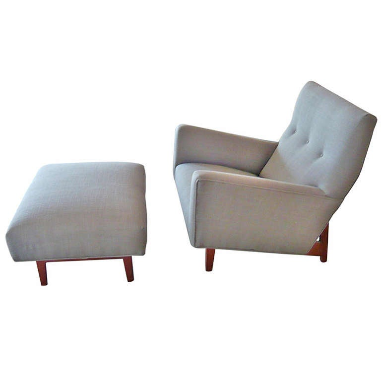 Jens Risom Lounge Chair Ottoman at 1stdibs
