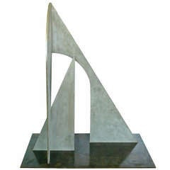 Abstract Steel Sculpture by Christopher Georgesco, 1978