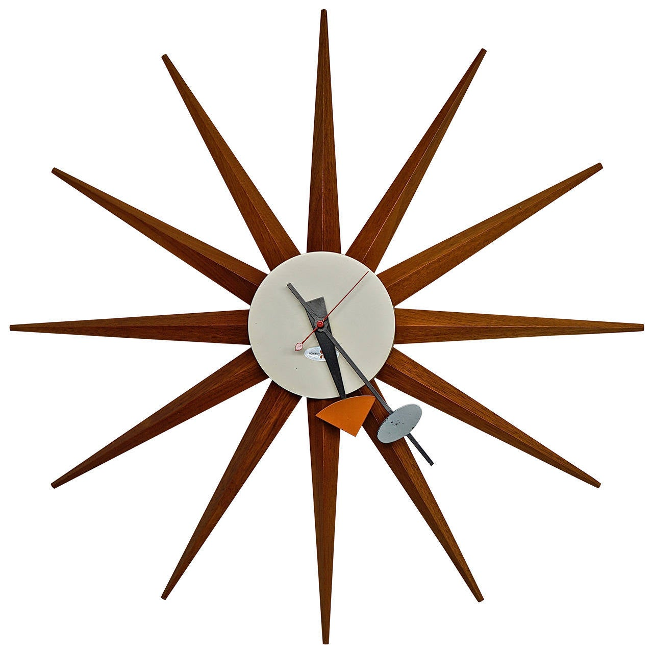 Vintage spike clock by george nelson at 1stdibs for Nelson wall clock