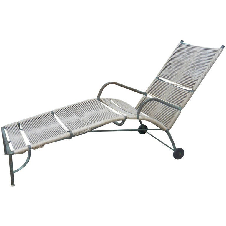 bronze chaise lounge by robert lewis at 1stdibs