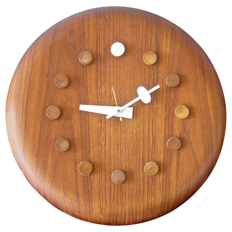 George nelson fritz hansen clock at 1stdibs for Nelson wall clock