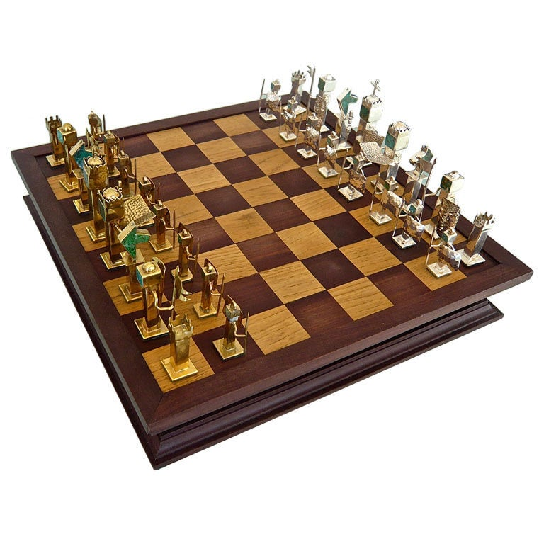 Hand crafted chess set at 1stdibs for Hand crafted chess set