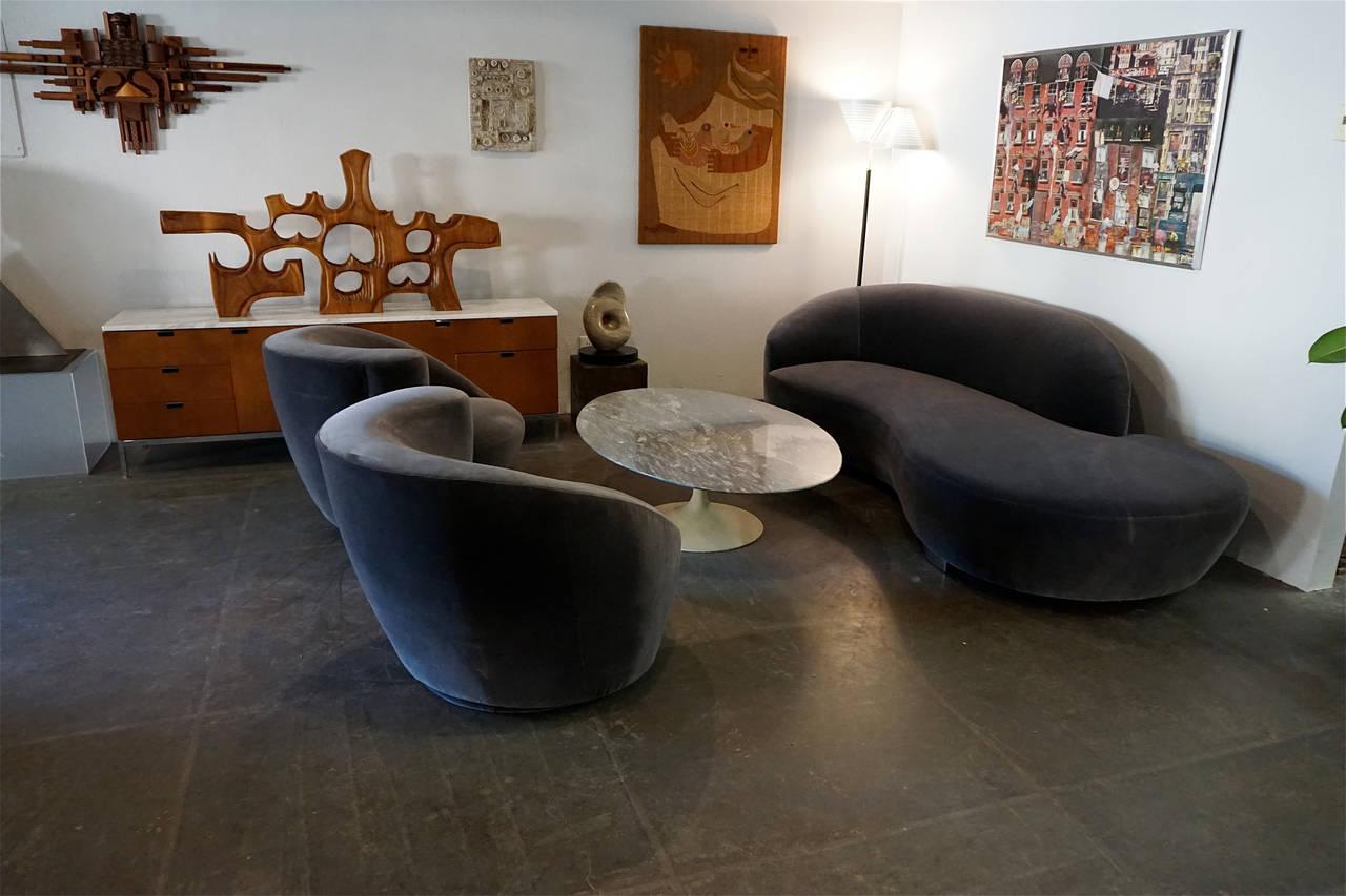 Serpentine Sofa By Vladimir Kagan For Directional At 1stdibs