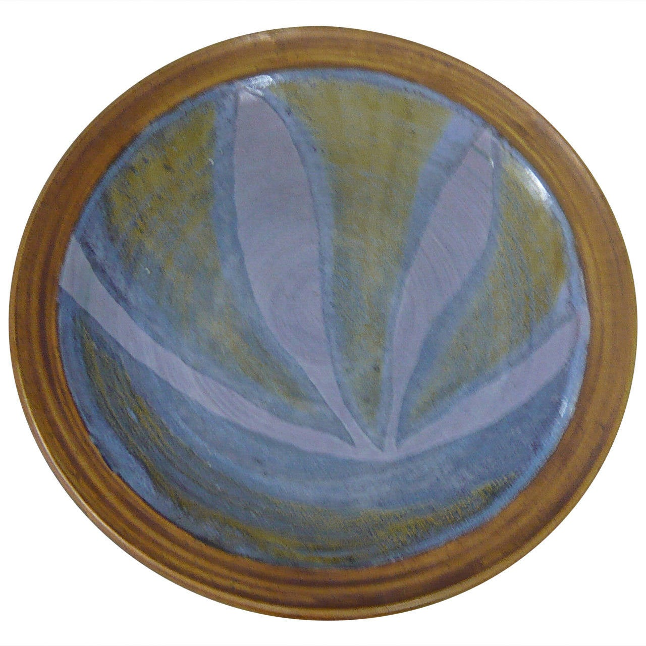 Beautiful Glazed Ceramic Charger At 1stdibs