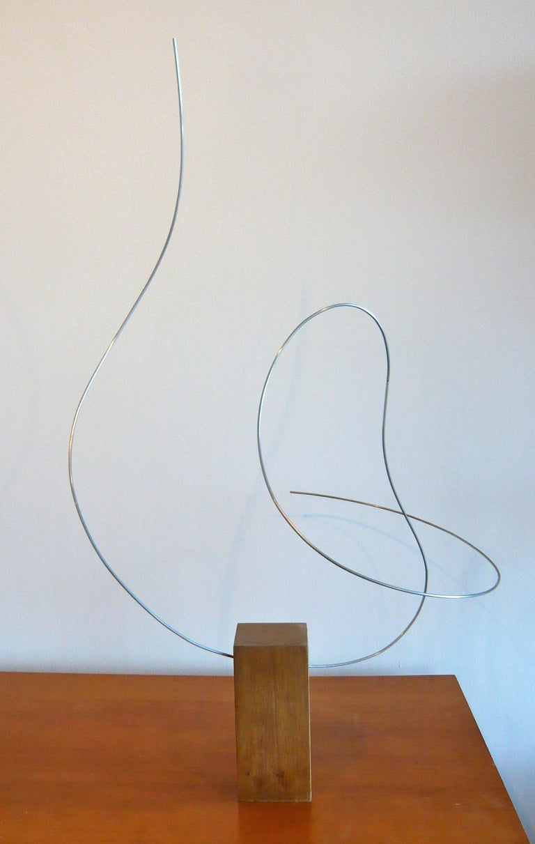 Kinetic wire sculpture signed at 1stdibs for Kinetic desk sculpture