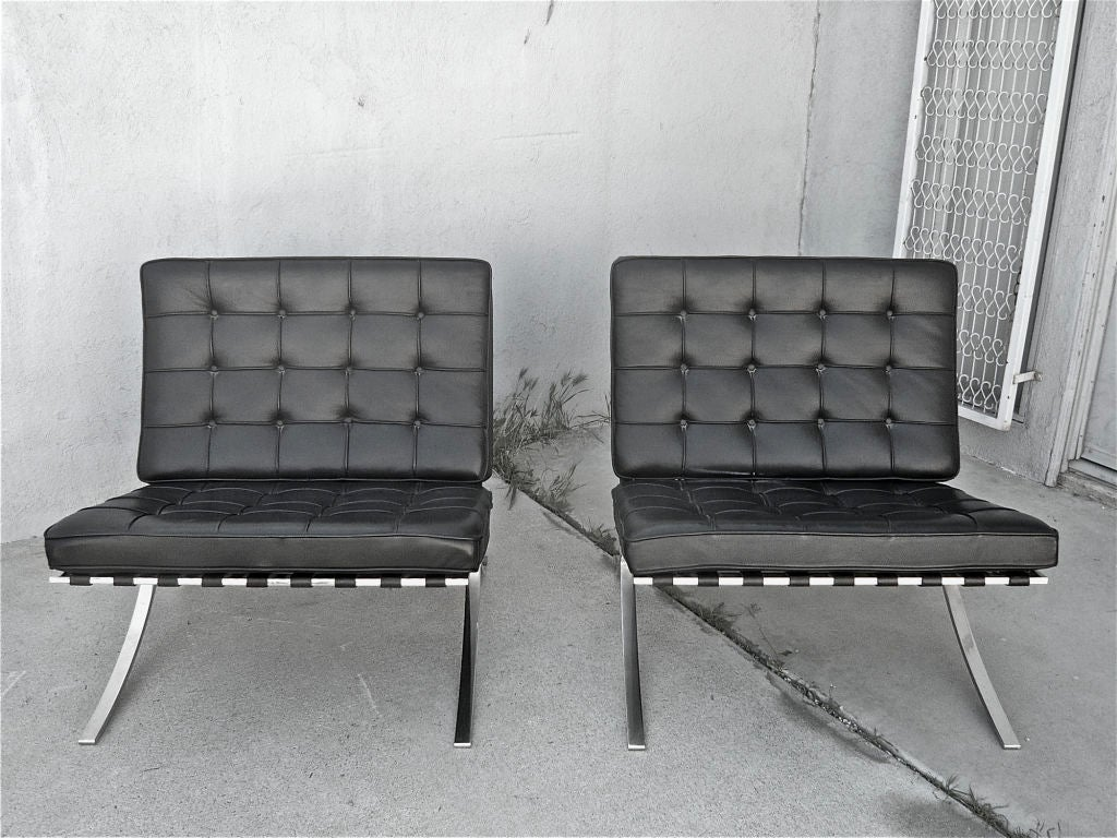 mies van der rohe barcelona chairs at 1stdibs. Black Bedroom Furniture Sets. Home Design Ideas