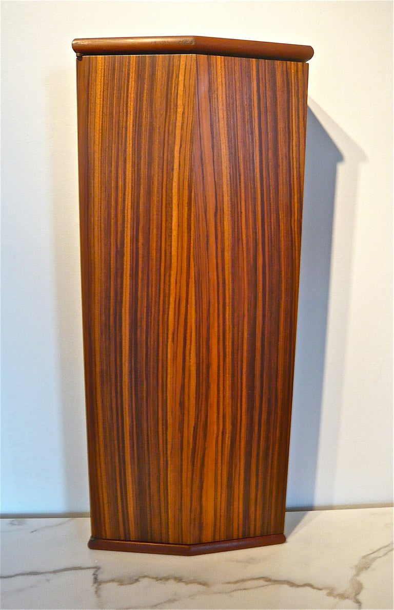 Exotic Wood Wall Mounted Cabinet At 1stdibs
