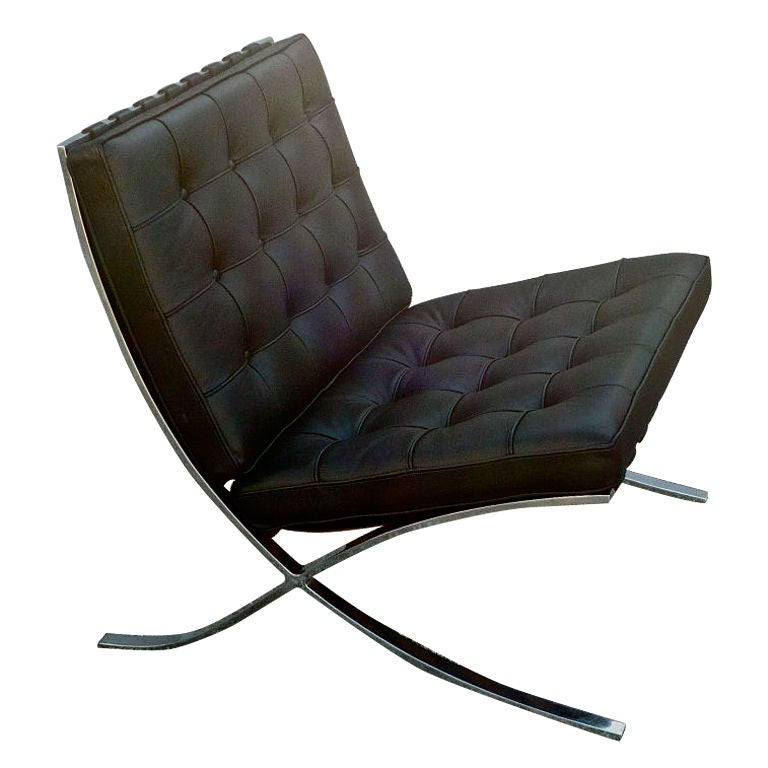knoll barcelona lounge chair at 1stdibs. Black Bedroom Furniture Sets. Home Design Ideas