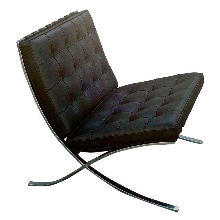 knoll barcelona lounge chair at 1stdibs. Black Bedroom Furniture Sets. Home Design Ideas