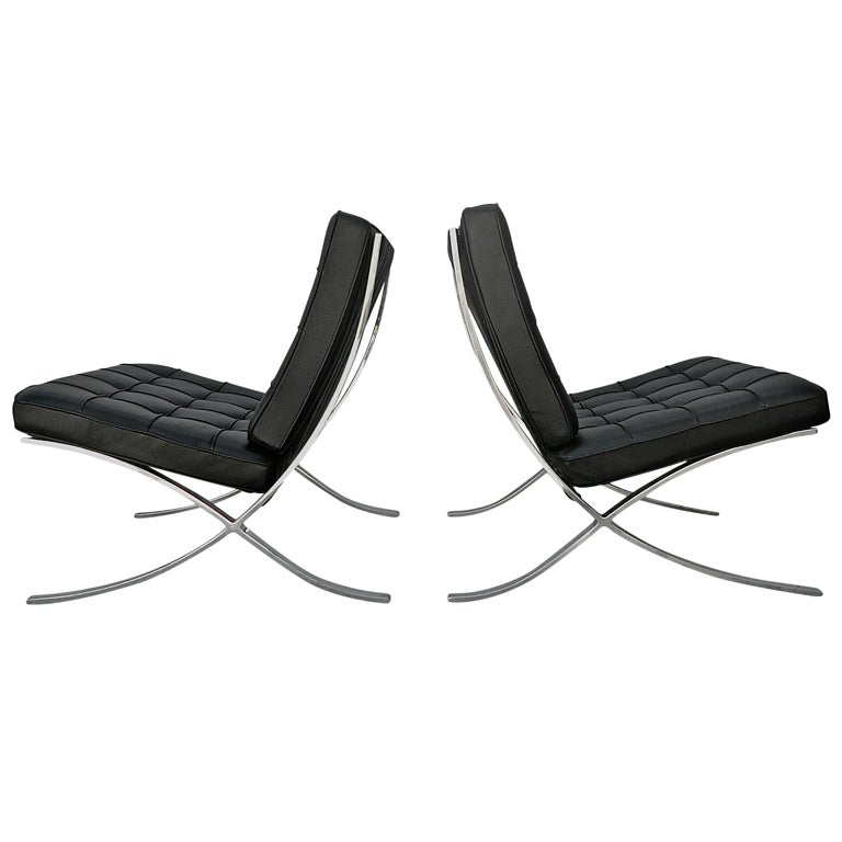mies barcelona chairs for knoll at 1stdibs. Black Bedroom Furniture Sets. Home Design Ideas