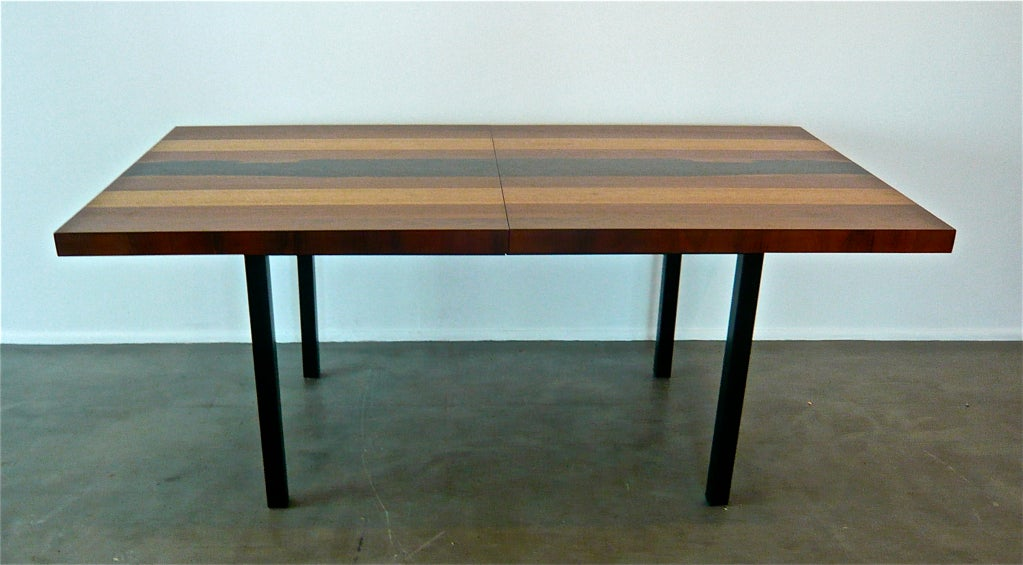 Milo Baughman Expandable Dining Table At 1stdibs