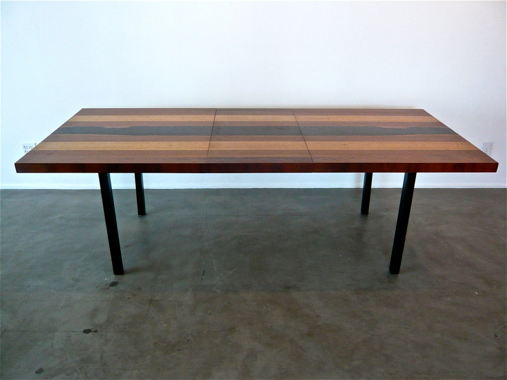 milo baughman expandable dining table at 1stdibs. Black Bedroom Furniture Sets. Home Design Ideas