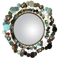 "Curtis Jere Chrome ""Raindrops"" Mirror"