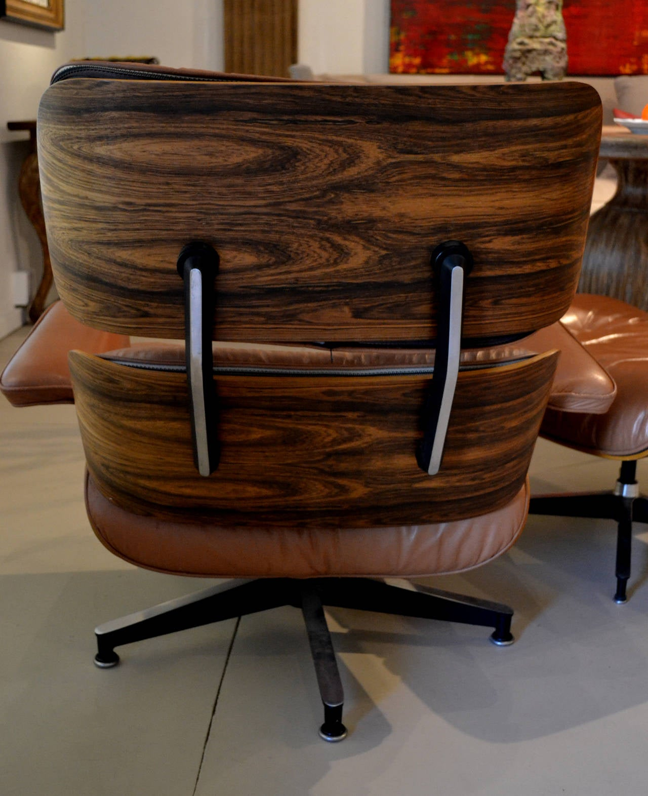 Vintage Eames Lounge Chair and Ottoman by Herman Miller at 1stdibs