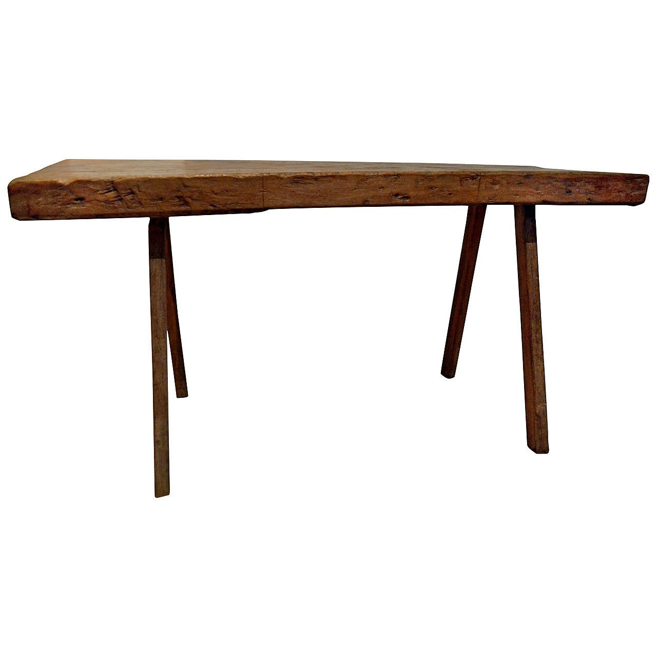Vintage reclaimed wood console table at stdibs